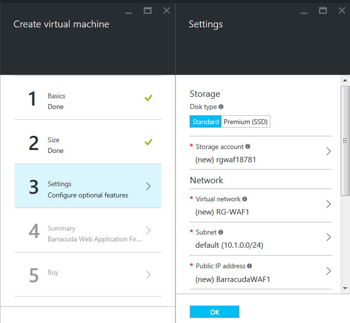 Azure Resource Managerモデルを使用したBarracuda CloudGen WAFの導入とプロビジョニング のページ写真 6
