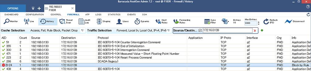 Barracuda CloudGen Firewallを使ってSCADAの通信制御を実施する のページ写真 11