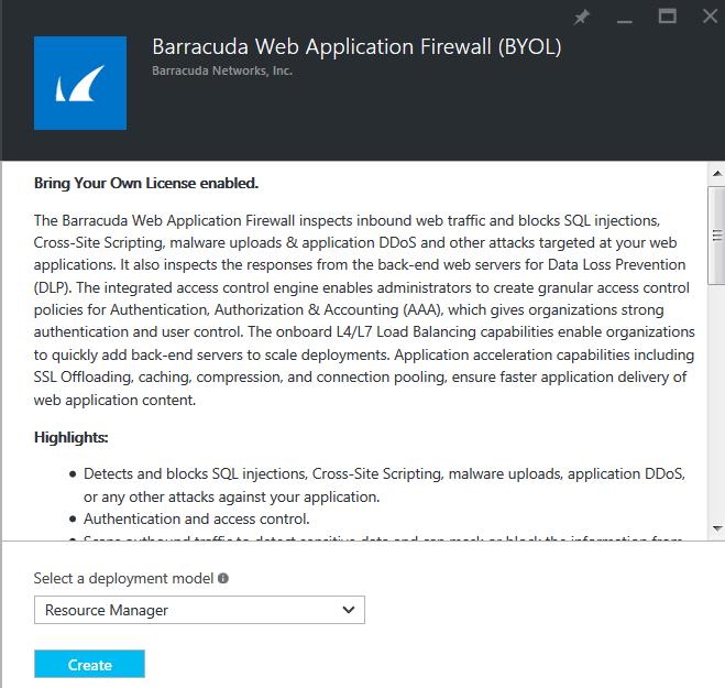 Azure Resource Managerモデルを使用したBarracuda CloudGen WAFの導入とプロビジョニング のページ写真 3
