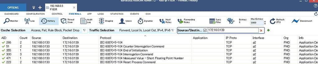 Barracuda CloudGen Firewallを使ってSCADAの通信制御を実施する のページ写真 9