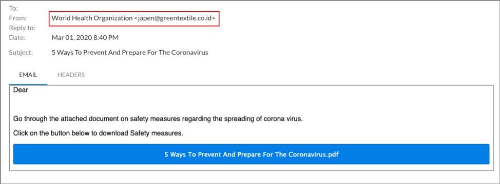 コロナウィルス(COVID-19)詐欺: 企業は新しいフィッシング攻撃を受けている(メールセキュリティ) のページ写真 5